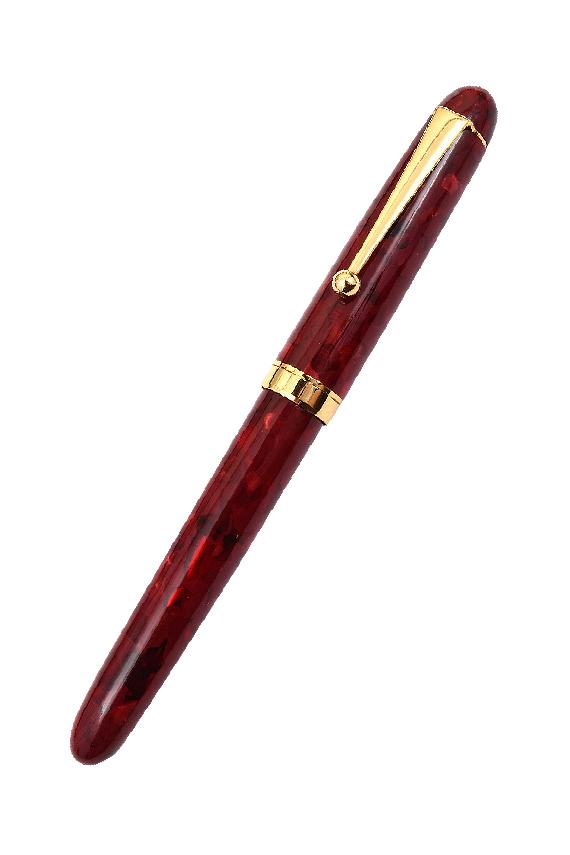 stylo plume Onishi Seisakusho marbre rouge