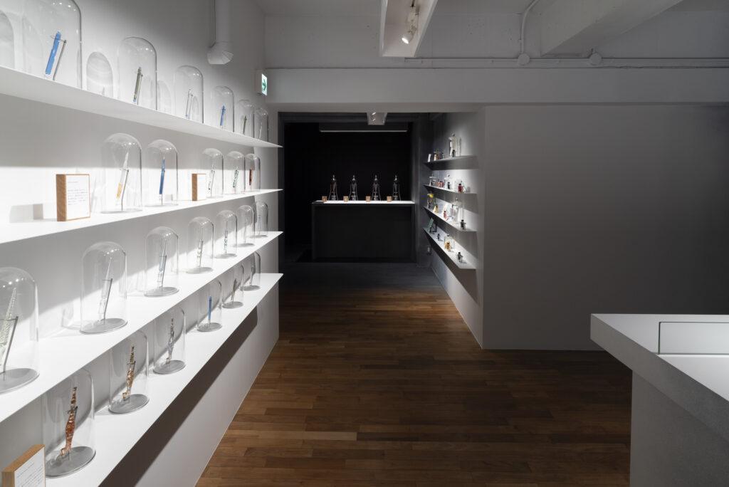 design de la boutique d'encre inkstand